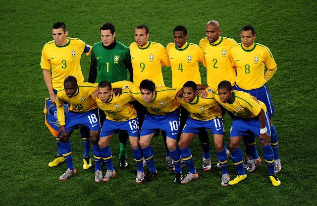Formación de Brasil ante Chile, Copa del Mundo Sudáfrica 2010, 28 de junio