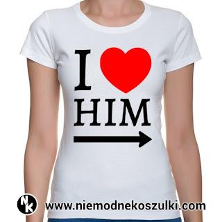koszulki dla par Iove him
