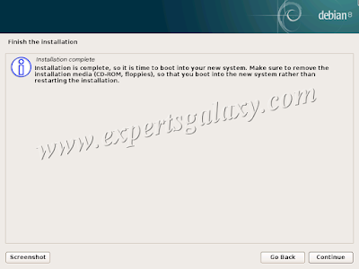 Debian Linux Installation Complete