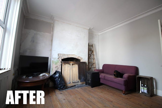 living room renovation after