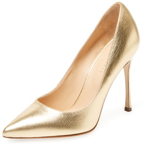 Godiva metallic leather pointed-toe pump, EUR 239.27 from Sergio Rossi