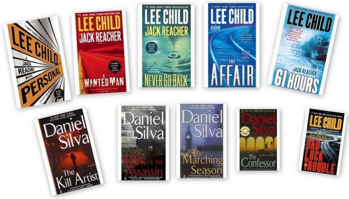 Lee Child and Daniel Silva Jack reacher gabriel allon