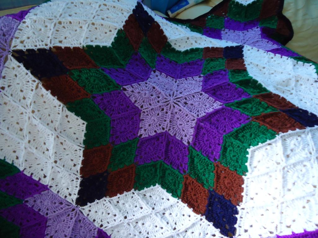 Crochet Pattern Star Afghan Free Patterns For Crochet