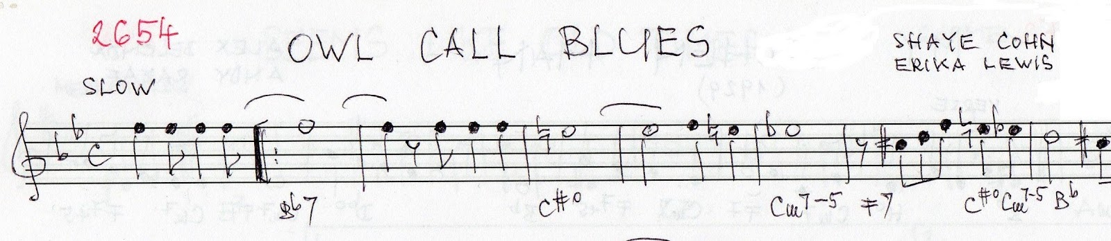 Pops Coffees Traditional Jazz Post 283 Chords Insight Owl Call