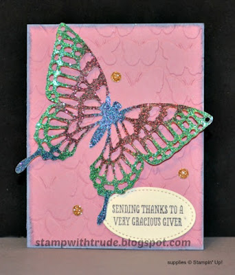 Thankful Thoughts, Thank you card, Stampin' Up!, Stamp with Trude,