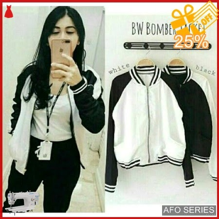 AFO139 Model Fashion Jaket BW Bomber Modis Murah BMGShop