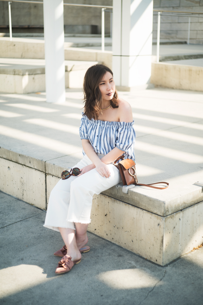 ReadyTwoWear: Spring style Zara off-the-shoulder top