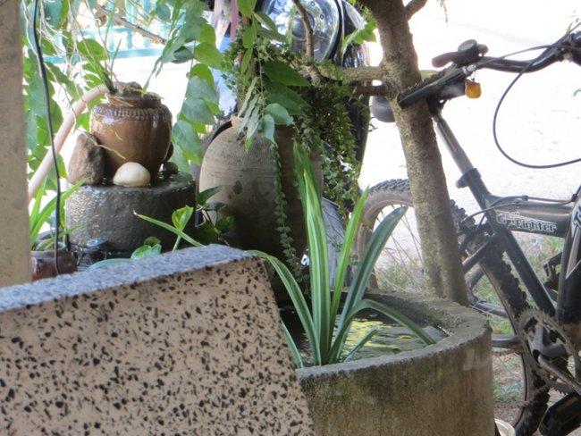 маленький фонтан в кафе