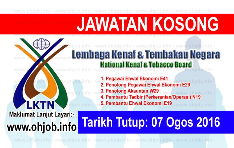 Jawatan Kerja Kosong Lembaga Kenaf dan Tembakau Negara (LKTN) logo www.ohjob.info ogos 2016
