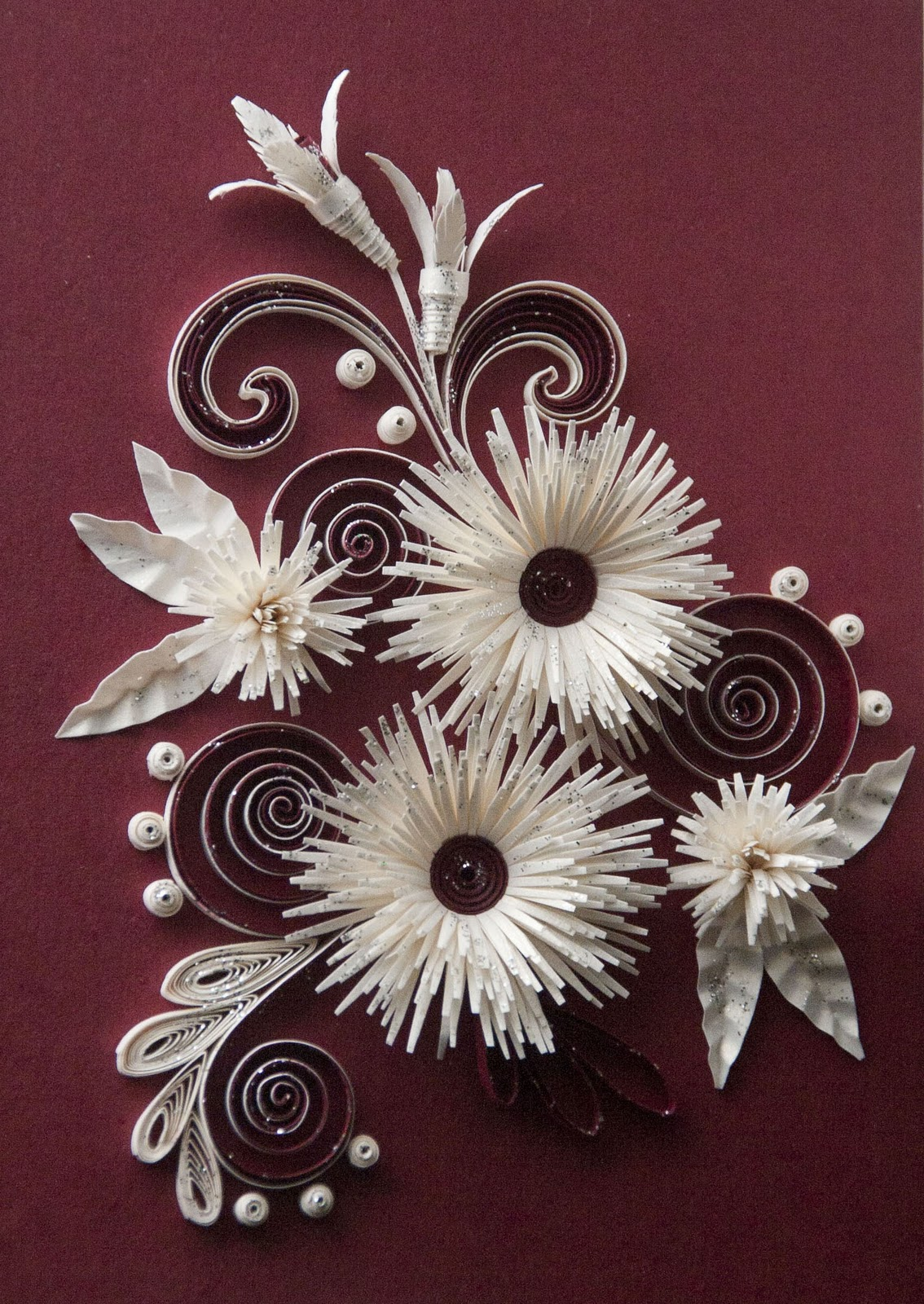 Neli Quilling Art: Quilling cards flowers