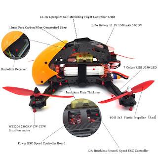Spesifikasi Drone RoboCat 270 - OmahDrones