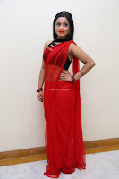 Aasma Syed in Red Saree Sleeveless Black Choli Spicy Pics ~  Exclusive Celebrities Galleries 039.jpg