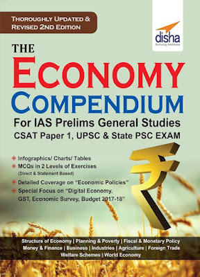 Disha Economics Compendium pdf Free Download for RBI Grade B, IAS Prelims General Studies CSAT Paper 1 and SEBI Grade A Exam.Free Download 1000+ Economics MCQs for RBI Grade B and UPSC CSE Exam.