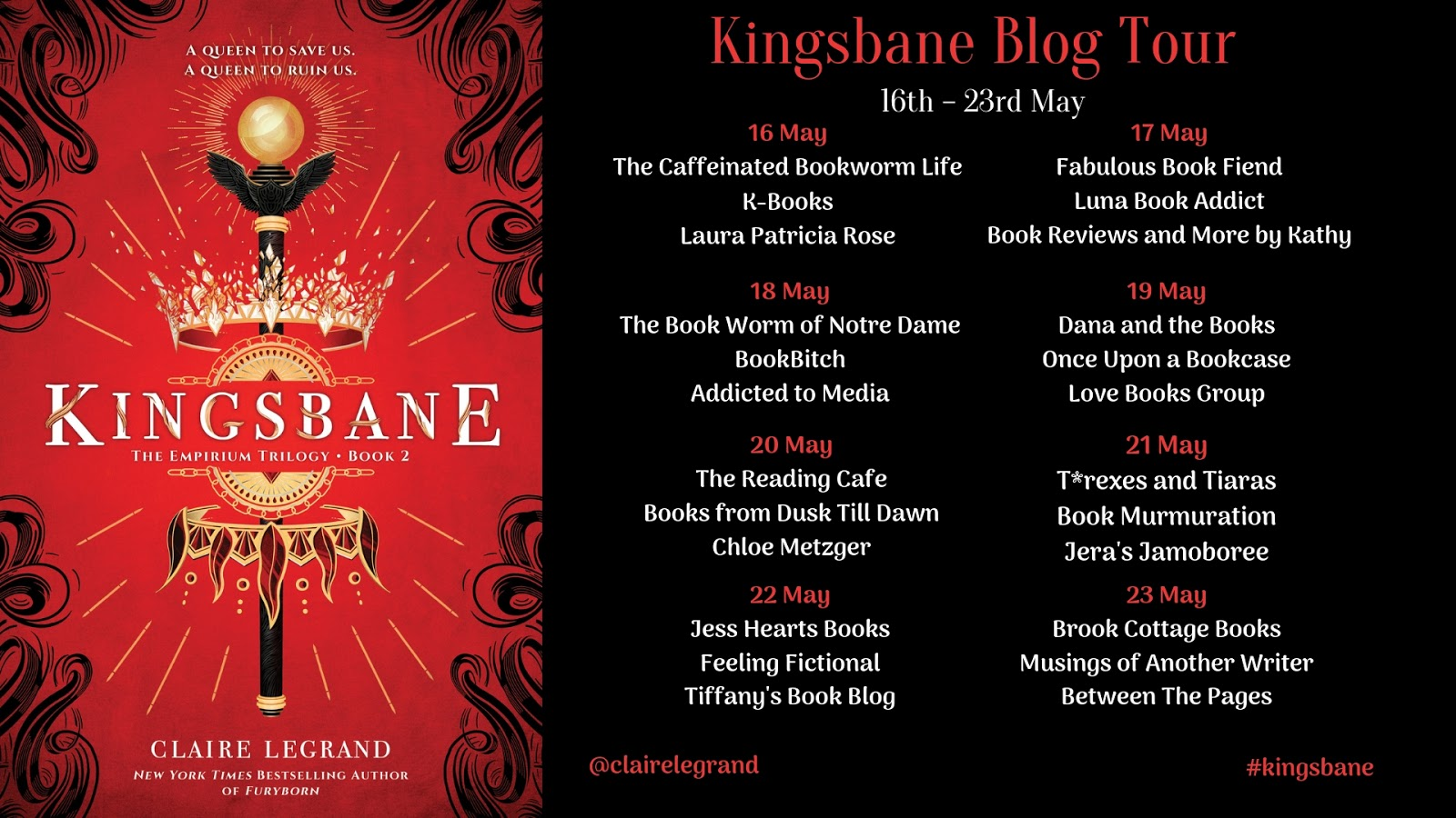 Kingsbane by Claire Legrand Blog Tour Banner