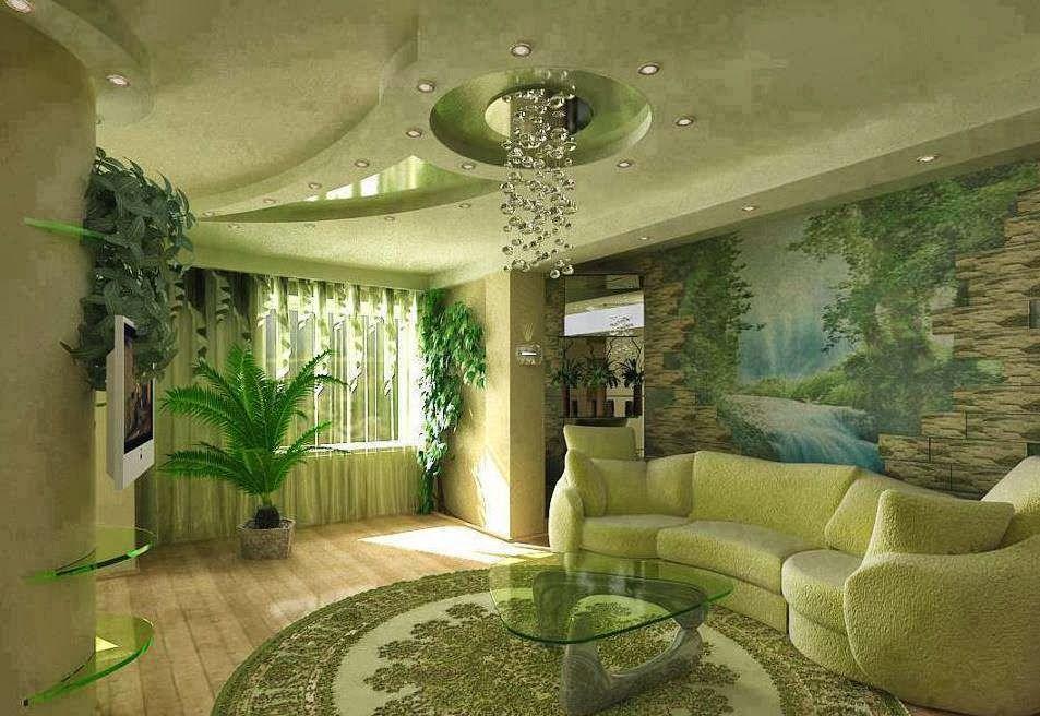 Dise os de salas con falsos techos salas con estilo - Como llenar la casa de energia positiva ...