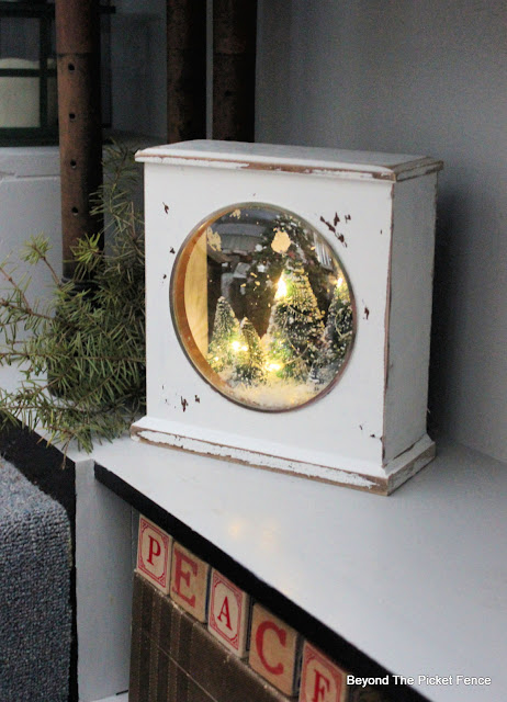 Make a Lighted Christmas Shadow Box From a Thrift Store Clock