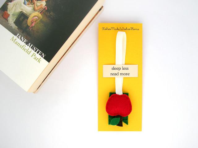personalized ribbon bookmark