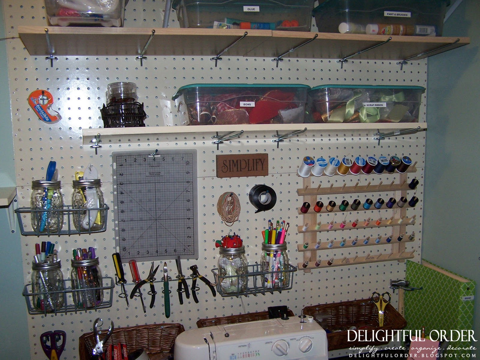 Storage For Craft Room: Delightful Order: Boxes, Bins, Baskets And More Storage