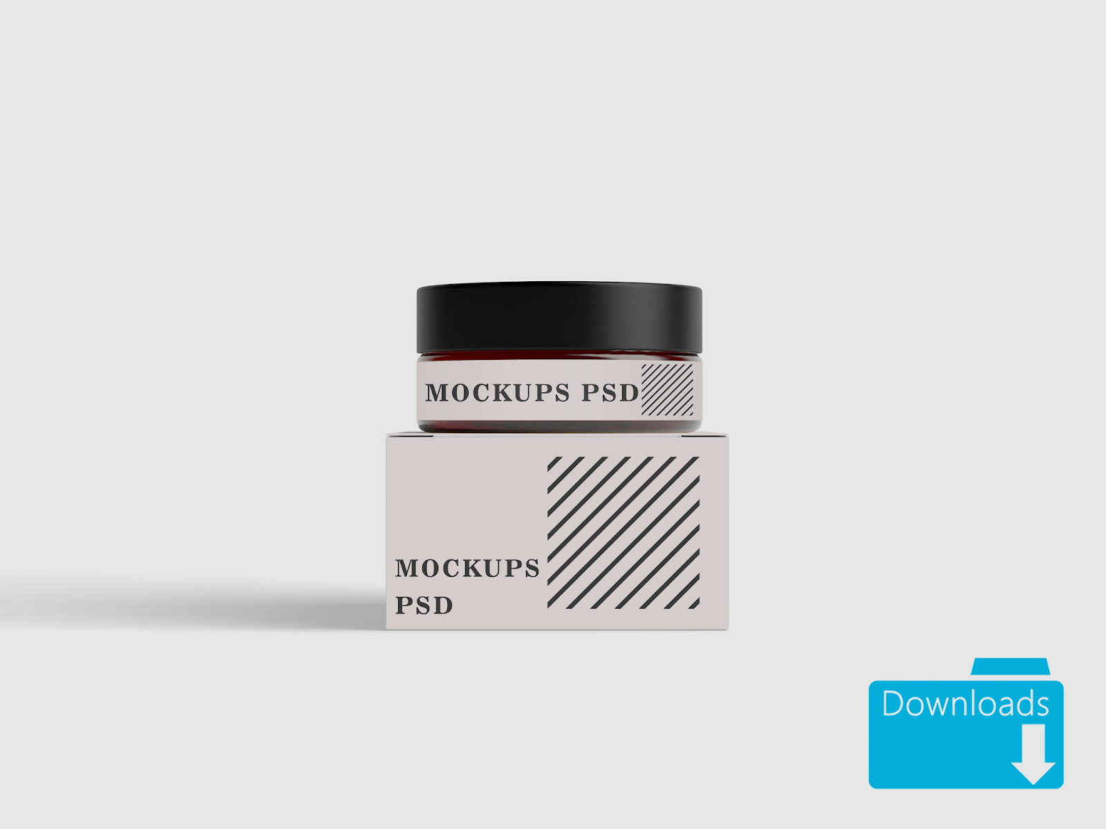 Box And Jar Mockup For Cosmetic Products
