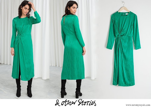 Crown Princess Victoria wore & Other Stories Striped Twist Knot Midi Dress