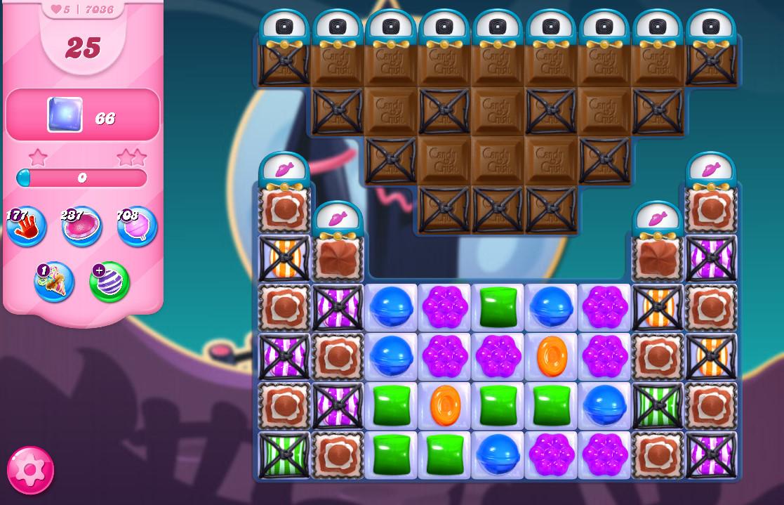 Candy Crush Saga level 7036