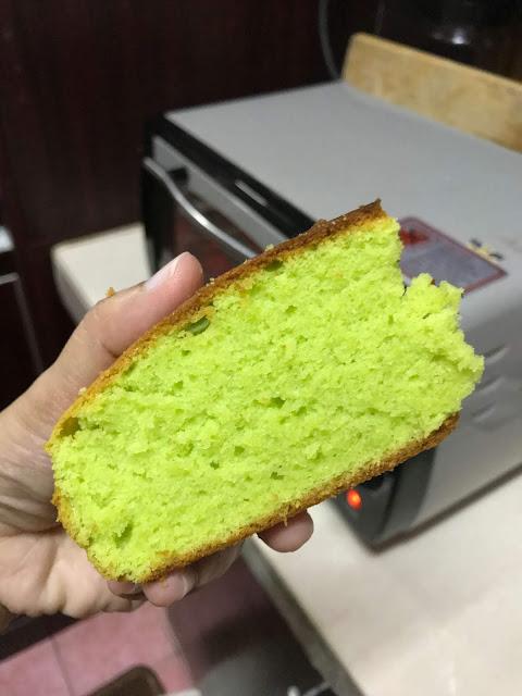 Kek Butter Pandan Gebu