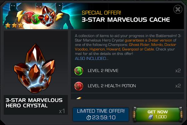 3-Star Marvelous Cache