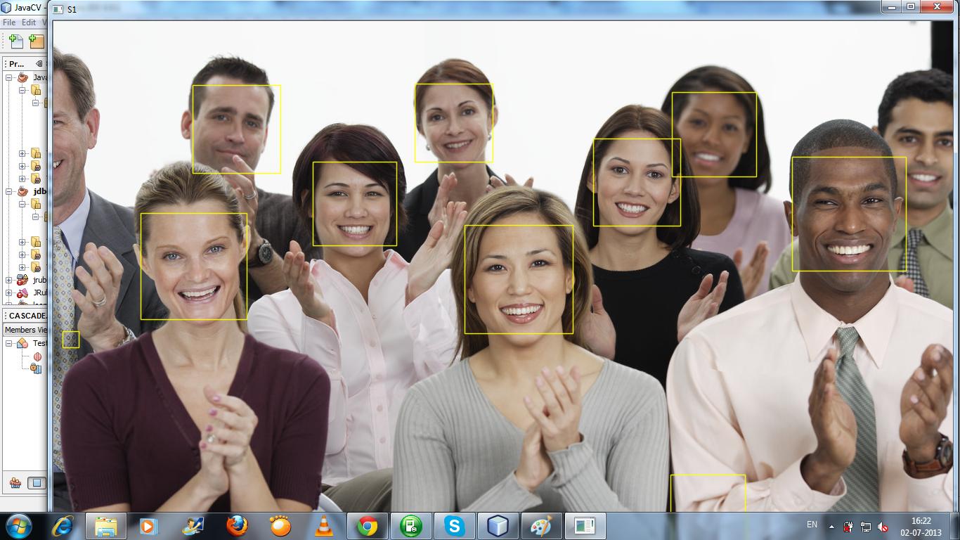 JavaCV Face Detection in HaarClassifier Method   Programming Tips