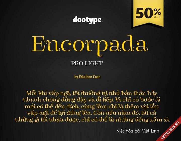 [Serif] Encorpada Pro Light Việt hóa