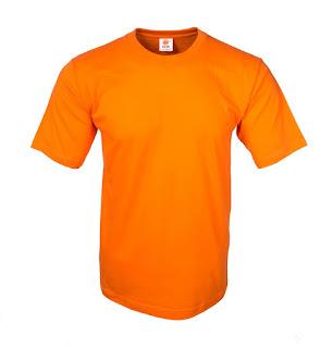 kaos polos eco soft orange