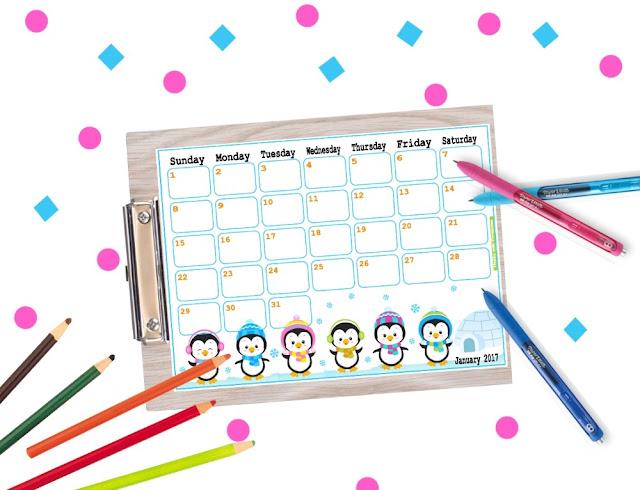 january planner, 2017 planner,planner 2017, kawaii planner, planner for kids, disney planner, planner disney, moana planner