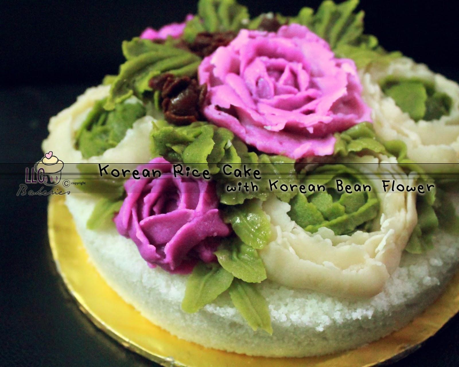 Llc Bakeries Korean Rice Cake Baekseolgi With Korean Bean Flower