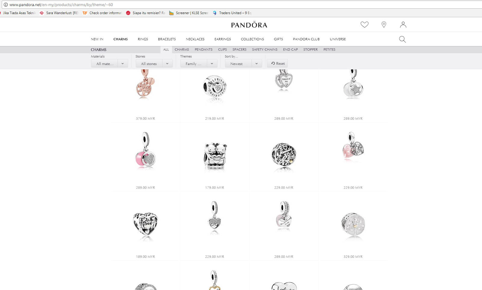 Syazwana Jamal: Pandora pertama. Pandora Simple. Tema Family.