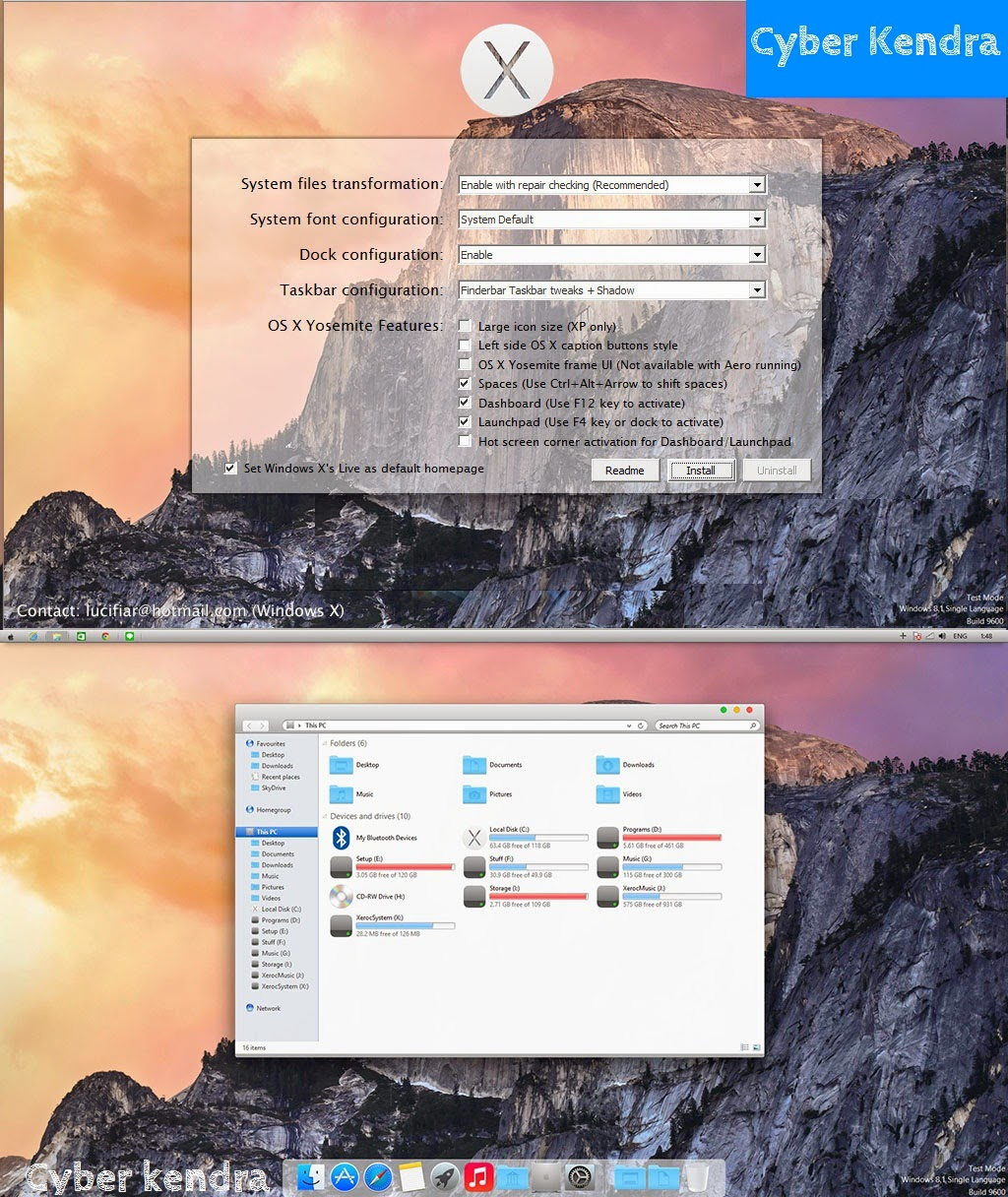 Yosemite's look, Apple look, Apple and Microsoft, Mac and Windows