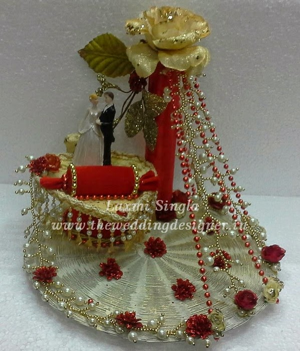 Indian Wedding Tray Decoration: Engagement Ring Trays Decoration, Ring Trays Ideas: Ring
