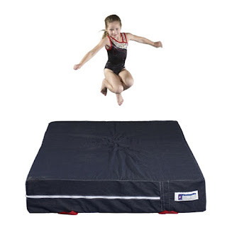 Greatmats fluffy denim landing mat for gymnastics