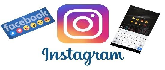 las reacciones de Facebook en Instagram
