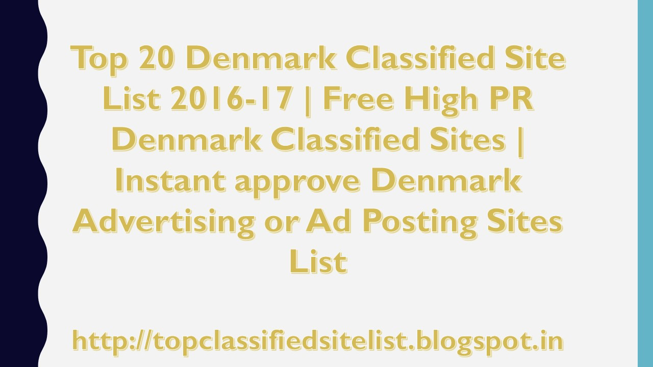List of Top 50+ Free Denmark Classifieds Sites | Post Free
