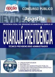 Apostila Guarujá Previdência (SP) Técnico Previdenciário (Grátis CD)