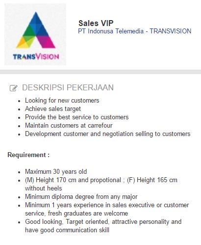 Lowongan Kerja TRANSVISION Surabaya - Terbaru 2020