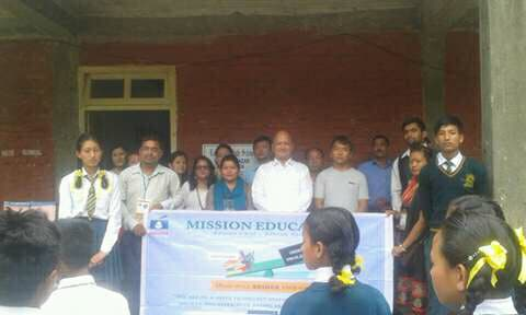 Mission Education Team of Bijanbari has placed third Dropbox at Lodhama Higher Secondary School