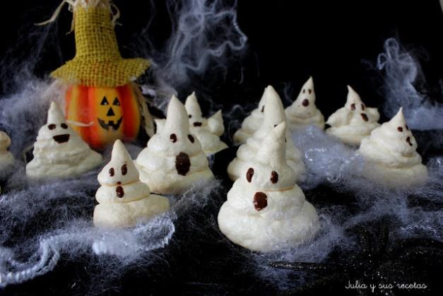 fantasmas de merengue para halloween
