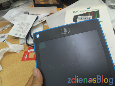 clear button - Wuxing LZS85 LCD Writing Tablet