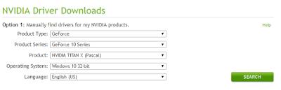 Cara download driver nVidia