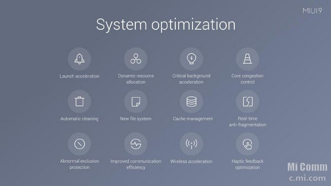 System Optimization MIUI 9