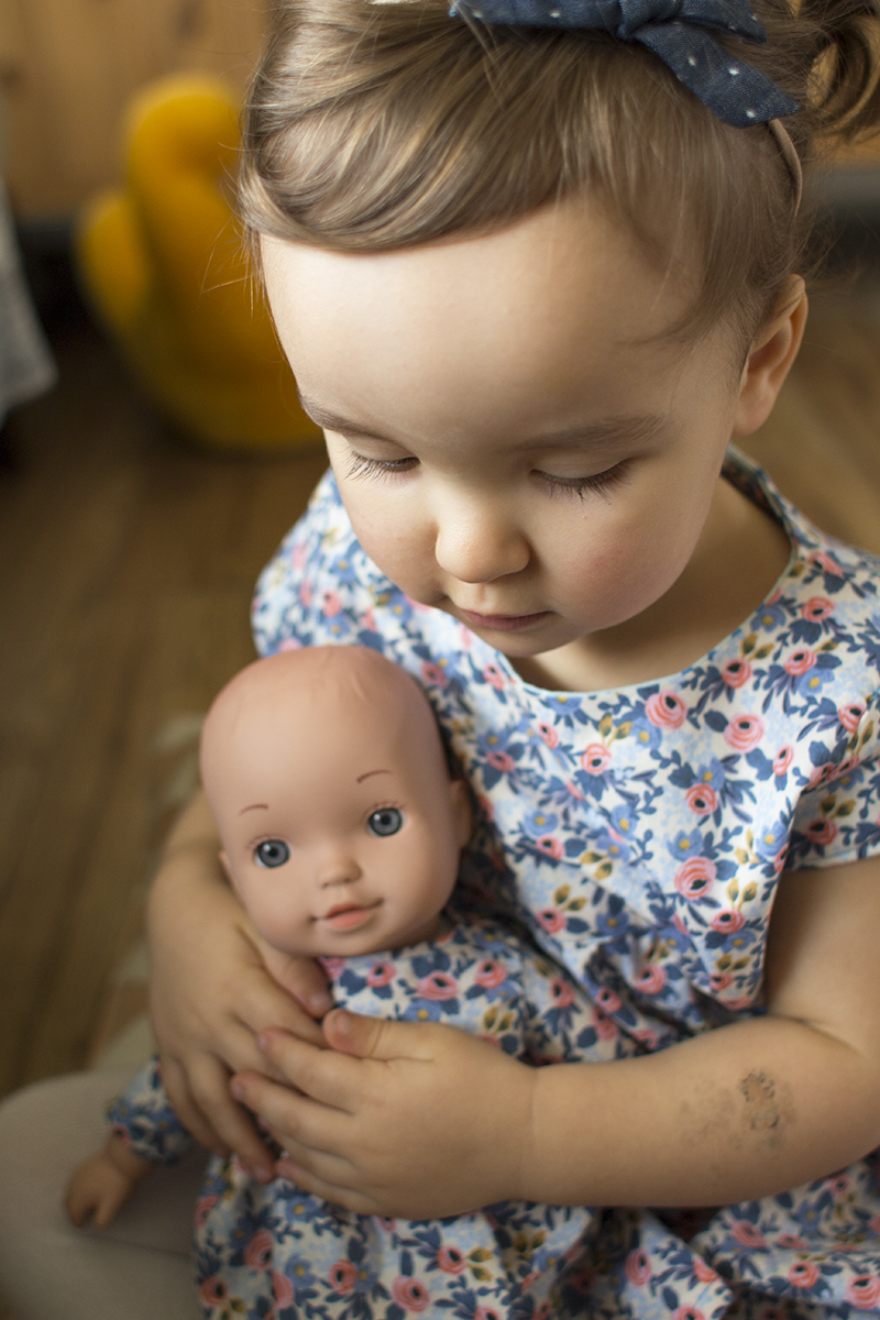 Matching little girl and doll dress