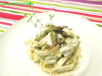 Lasagnette con asparagi e robiola - Primo piatto con asparagi