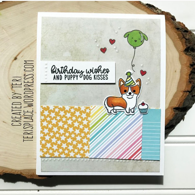 Sunny Studio Stamps: Party Pups Customer Card Share by Teri Anderson