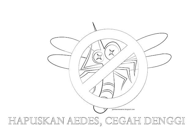 Poster Mewarna Hapuskan Denggi