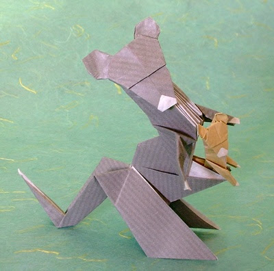 Origami Kangaroo Instructions - F2BOOK VIDEOS 120 - video dailymotion | 396x400